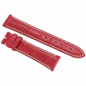 Hadley Roma 21 MM Red Alligator Leather Strap