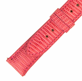 Hadley Roma 21 MM Shiny Hot Pink Lizard Leather Strap