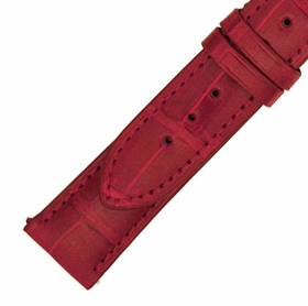 Hadley Roma 21 MM Shiny Red Alligator Leather Strap