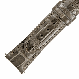 Hadley Roma 21 MM Taupe Grey Alligator Leather Strap