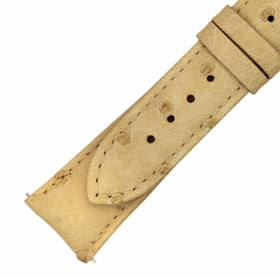 Hadley Roma 24 MM Ivory Ostrich Leather Strap