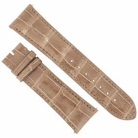 Hadley Roma 24 MM Shiny Brown Alligator Leather Strap 24AAT08M
