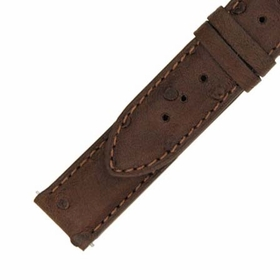 Hadley Roma  Brown Ostrich Leather Strap