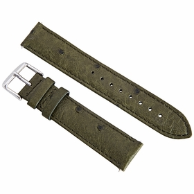 Hadley Roma Forest Green 19 MM Ostrich Leather Strap