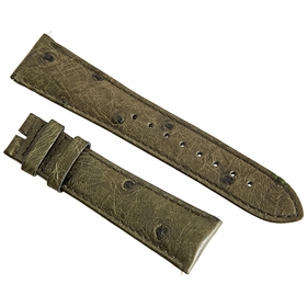 Hadley Roma Green 22 MM Ostrich Leather Strap