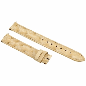 Hadley Roma Ivory 14 MM Ostrich Leather Strap