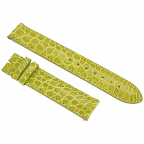 Hadley Roma Lime Green 18 MM Alligator Leather Strap