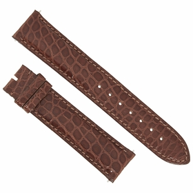 Hadley Roma Matte Chestnut Brown 20 MM Alligator Leather Strap