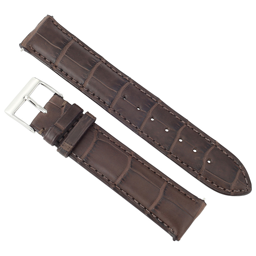 c8d351e263b Hadley Roma Matte Dark Brown Alligator Leather Strap