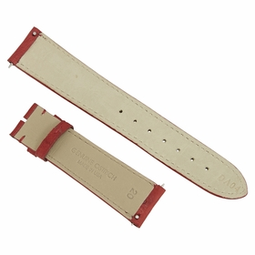 Hadley Roma Matte Red 20 MM Ostrich leather Strap