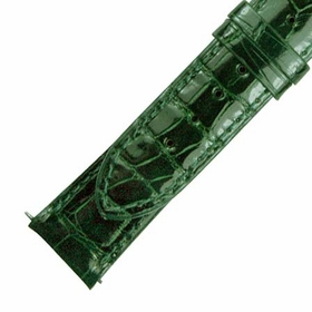 Hadley Roma  Shiny Forest Green Alligator Leather Strap
