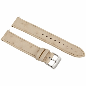 Hadley Roma Winter White Ostrich Leather Strap