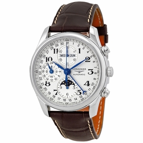Longines L2.673.4.78.3 Master Collection Complete Calendar Mens Chronograph Automatic Watch