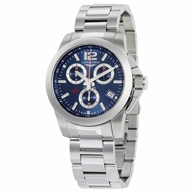 Longines L3.700.4.96.6 Conquest Mens Chronograph Quartz Watch
