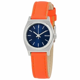 Nixon A5092077 Small Time Teller Leather Ladies Quartz Watch