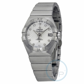 Omega 123.10.27.20.55.001 Constellation Brushed Chronometer Ladies Automatic Watch