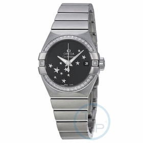Omega 123.15.27.20.01.001 Constellation Chronometer Star Ladies Automatic Watch