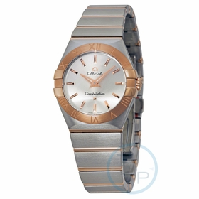 Omega 12320276002001 Constellation Brushed Quartz Ladies Quartz Watch