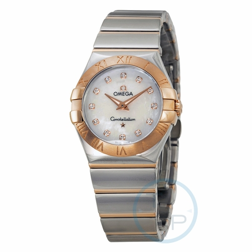 Omega 12320276055003 Constellation Polished Ladies Quartz Watch
