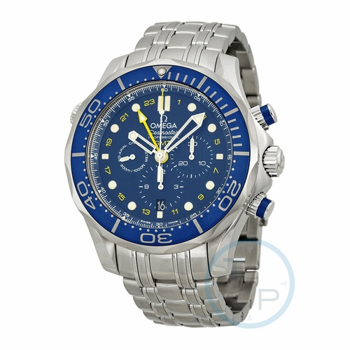 Omega 21230445203001 Seamaster Mens Chronograph Automatic Watch