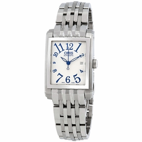 Oris 01 561 7656 4061 07 8 17 82 Rectangular Date Ladies Automatic Watch