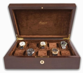 Rapport Portman 10 Watch Collector Case - Brown Leather Pattern