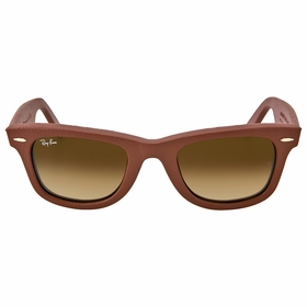 Ray Ban RB2140QM 116985 50-22 Wayfarer Leather Unisex  Sunglasses