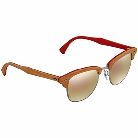 Ray Ban RB3016M 12197O 51 Clubmaster Wood Ladies  Sunglasses