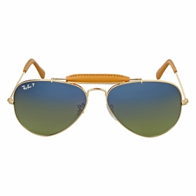 Ray Ban RB3422Q 001/M9 58 Outdoorsman Craft Unisex  Sunglasses