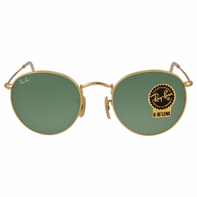 Ray Ban RB3447 001 50-21 Round Metal Unisex  Sunglasses