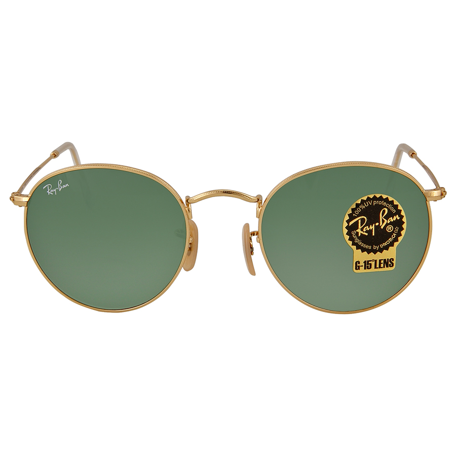 1babd704d1 Ray Ban RB3447 001 50-21 Round Metal Unisex Sunglasses