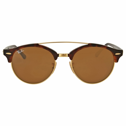 Ray Ban RB4346 990/33 Clubround Double Bridge Men's Sunglasses