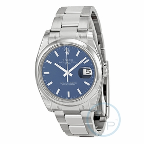 Rolex 115200BLSO Oyster Perpetual Date 34 Mens Automatic Watch