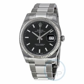 Rolex 115234BKSO Oyster Perpetual Date 34 Mens Automatic Watch