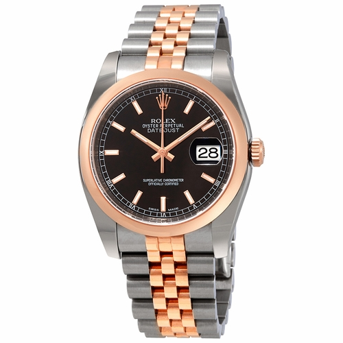 Rolex 116201BKSJ Oyster Perpetual Datejust 36 Mens Automatic Watch