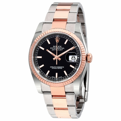 Rolex 116231BKSO Oyster Perpetual Datejust 36 Mens Automatic Watch