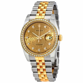 Rolex 116243CJDJ Oyster Perpetual Datejust 36 Ladies Automatic Watch