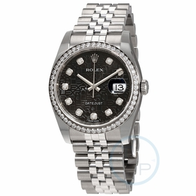 Rolex 116244BKJDJ Oyster Perpetual Datejust 36 Ladies Automatic Watch