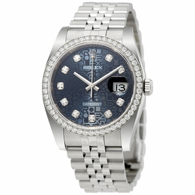 Rolex 116244BLJDJ Oyster Perpetual Datejust 36 Ladies Automatic Watch