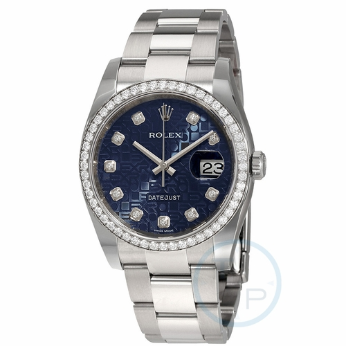 Rolex 116244BLJDO Oyster Perpetual Datejust 36 Ladies Automatic Watch