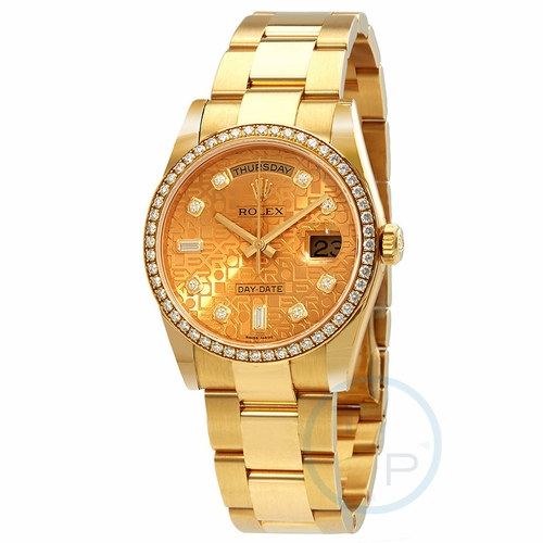 Rolex 118348CJDO Day-Date 36 Ladies Automatic Watch