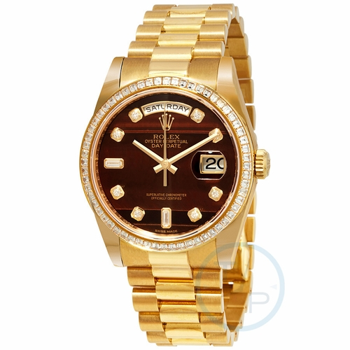 Rolex 118398CHBEDP Day-Date Mens Automatic Watch