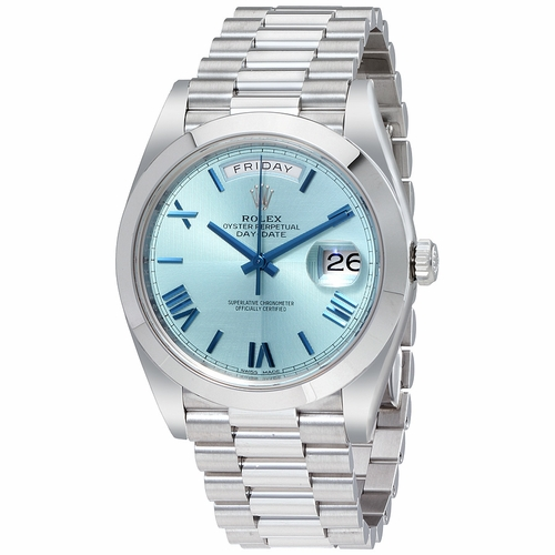 Rolex 228206IBLSRP Oyster Perpetual Day-Date 40 Mens Automatic Watch