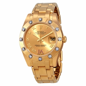 Rolex 81318CRDP Pearlmaster 34 Ladies Automatic Watch