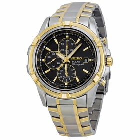 Seiko SSC142 Solar Mens Chronograph Eco-Drive Watch