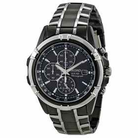 Seiko SSC143 Solar Mens Chronograph Eco-Drive Watch