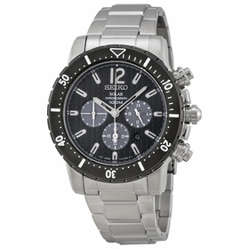 Seiko SSC245 Solar Mens Chronograph Eco-Drive Watch