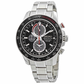Seiko SSC357 Sportura Solar Mens Chronograph Eco-Drive Watch