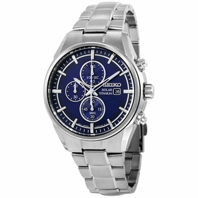 Seiko SSC365 Solar Mens Chronograph Eco-Drive Watch