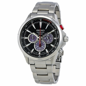 Seiko SSC493 Solar Mens Chronograph Eco-Drive Watch